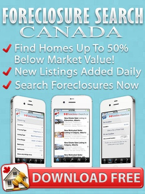 Screenshot Foreclosure Canada on iPad