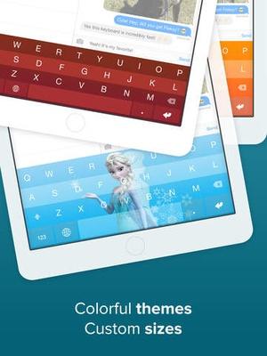 Screenshot Fleksy Keyboard  on iPad