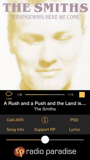 Screenshot Radio Paradise 3.0 on iPhone
