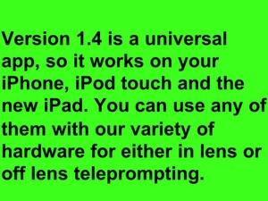 Screenshot ProPrompter on iPad