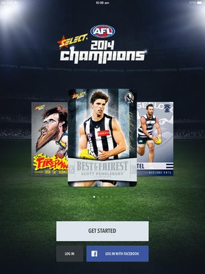 Screenshot 2014 Select Official AFL Collector Cards on iPad