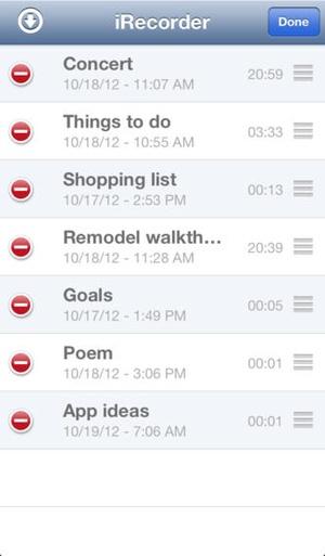 Screenshot iRecorder Pro on iPhone