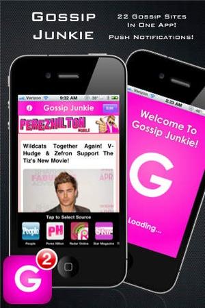 Screenshot Gossip Junkie on iPhone