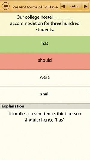 Screenshot Grammar Express on iPhone