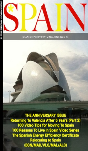 Screenshot Spanish Property Magazine on iPhone
