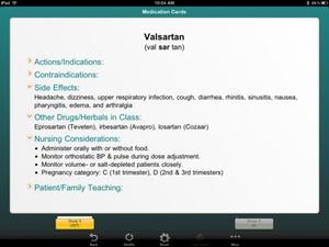 Screenshot Barron's NCLEX on iPad