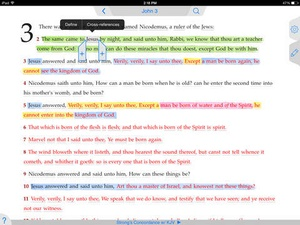 Screenshot Strong's Concordance with KJV on iPad