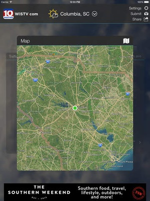 Screenshot WIS News 10 FirstAlert Weather on iPad