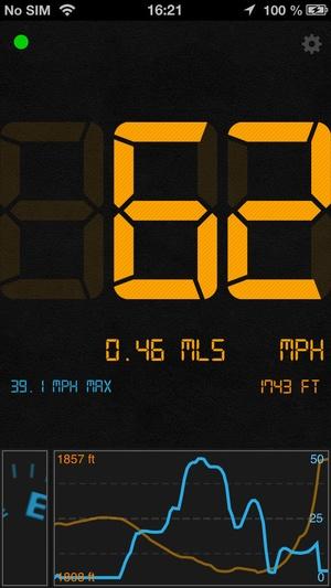 Screenshot Speedometer Speed Box on iPhone