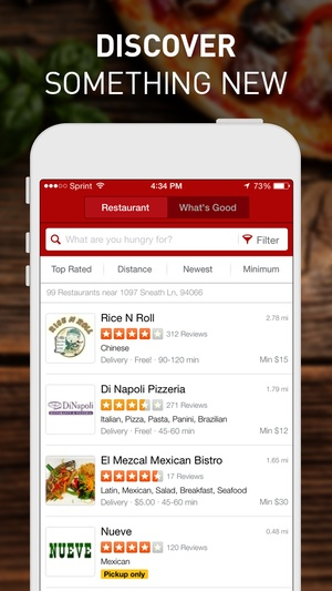 Screenshot EAT24 Order Food Delivery & Takeout on iPhone