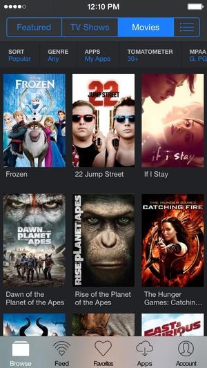 Screenshot Yidio on iPhone