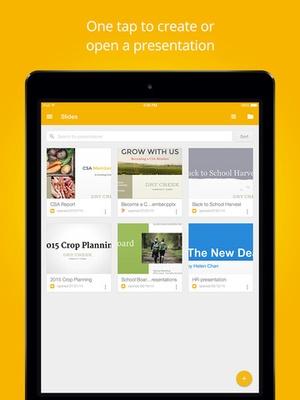 Screenshot Google Slides on iPad