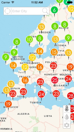 Screenshot Weather Map on iPhone