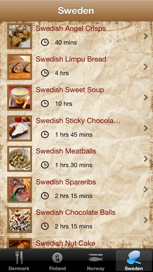 Screenshot Scandinavian Cuisines on iPhone