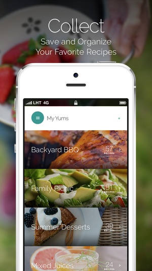 Screenshot Yummly Recipes & Grocery Shopping List on iPhone
