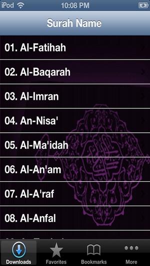 Screenshot Quran Mishary Rashid Alafasy on iPhone