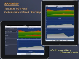 Screenshot Blood Pressure Monitor on iPad