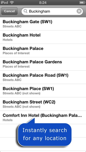 Screenshot Greater London A on iPhone