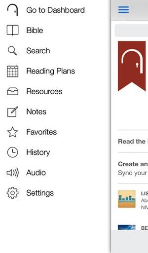 Screenshot Bible Gateway on iPhone