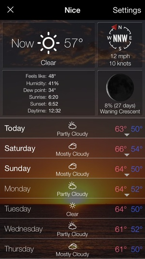 Screenshot 10 Day Weather: Extended detailed hourly forecast with animated live background on iPhone