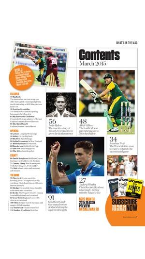 Screenshot The Cricketer Magazine on iPhone