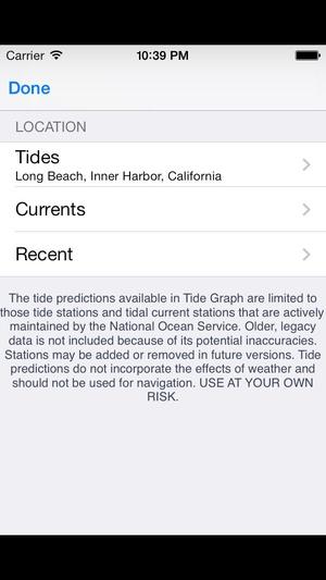 Screenshot Tide Graph on iPhone