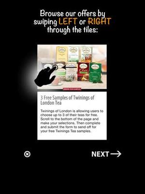 Screenshot Freebies on iPad