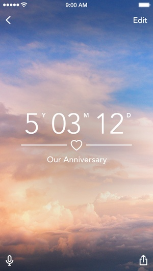 Screenshot Dreamdays Lite: Count Down to the Days that Matter on iPhone