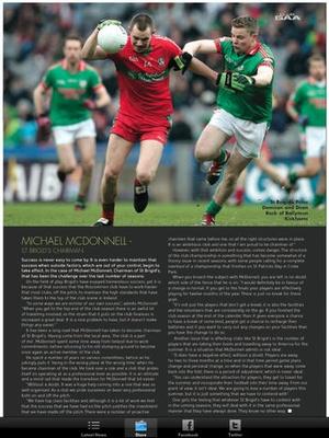 Screenshot Club GAA Magazine on iPad