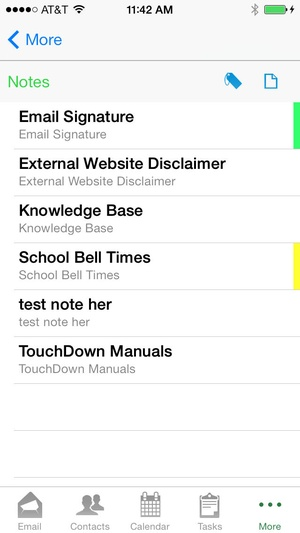 Screenshot TouchDown for iOS on iPhone