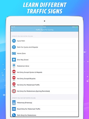 Screenshot Cycling Traffic Rules on iPad
