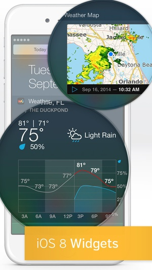 Screenshot Weather Underground on iPhone