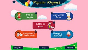 Screenshot Nursery Rhymes By Tinytapps on iPhone