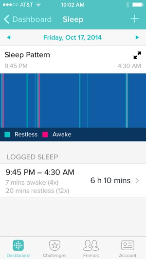 Screenshot Fitbit on iPhone