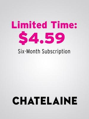 Screenshot Chatelaine Magazine on iPad