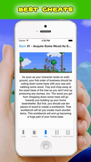 Screenshot Complete Cheats and Video Guide for Terraria on iPhone