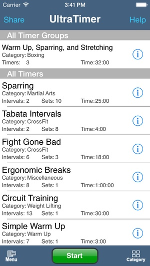 Screenshot UltraTimer on iPhone