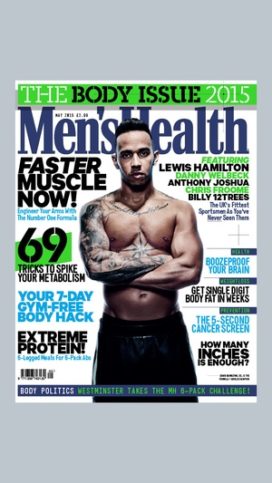 Screenshot Men's Health UK on iPhone