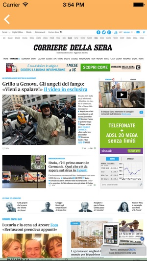 Screenshot iTalian News on iPhone