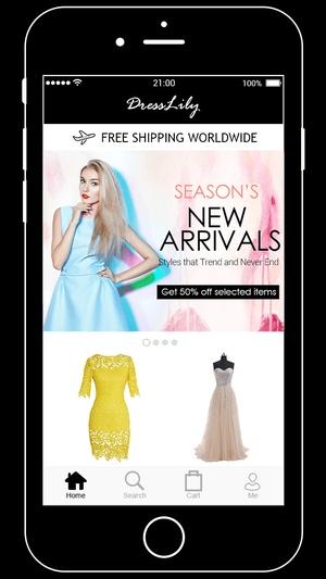 Screenshot Dresslily on iPhone