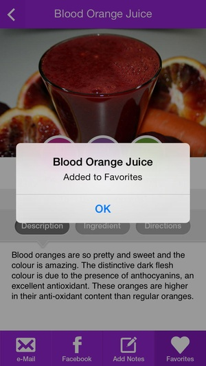 Screenshot Healthy Juice Recipes on iPhone