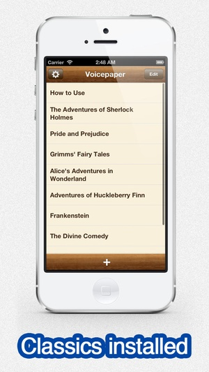 Screenshot Voicepaper on iPhone
