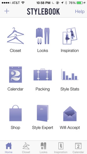 Screenshot Stylebook on iPhone