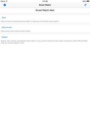 Screenshot Smart Watch Notice on iPad