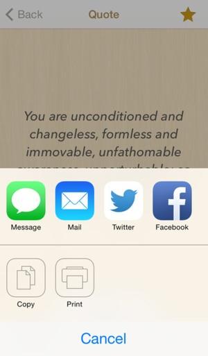 Screenshot Ashtavakra Gita Quotes on iPhone