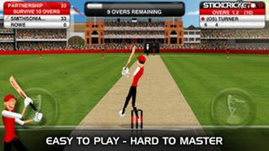 Screenshot Stick Cricket Partnerships on iPhone