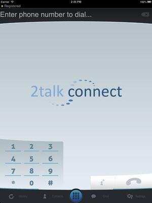Screenshot 2talk Connect on iPad