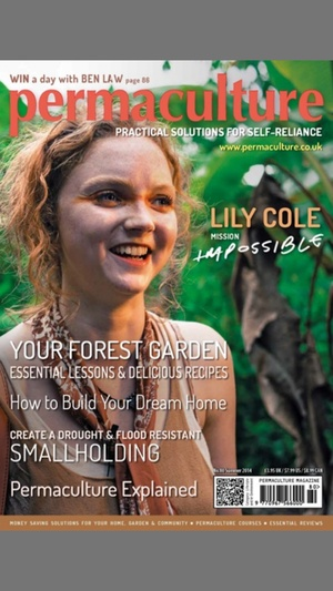 Screenshot Permaculture Magazine on iPhone