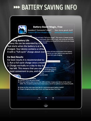 Screenshot Battery Life Magic, free on iPad