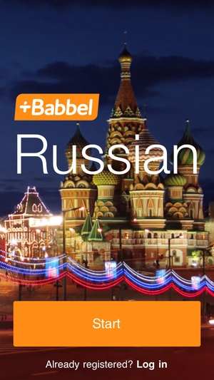 Screenshot Learn Russian with Babbel on iPhone